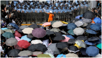 Hong Kong's Umbrellas are 'Made in USA'